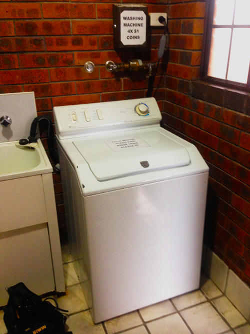 washing machine with coin box